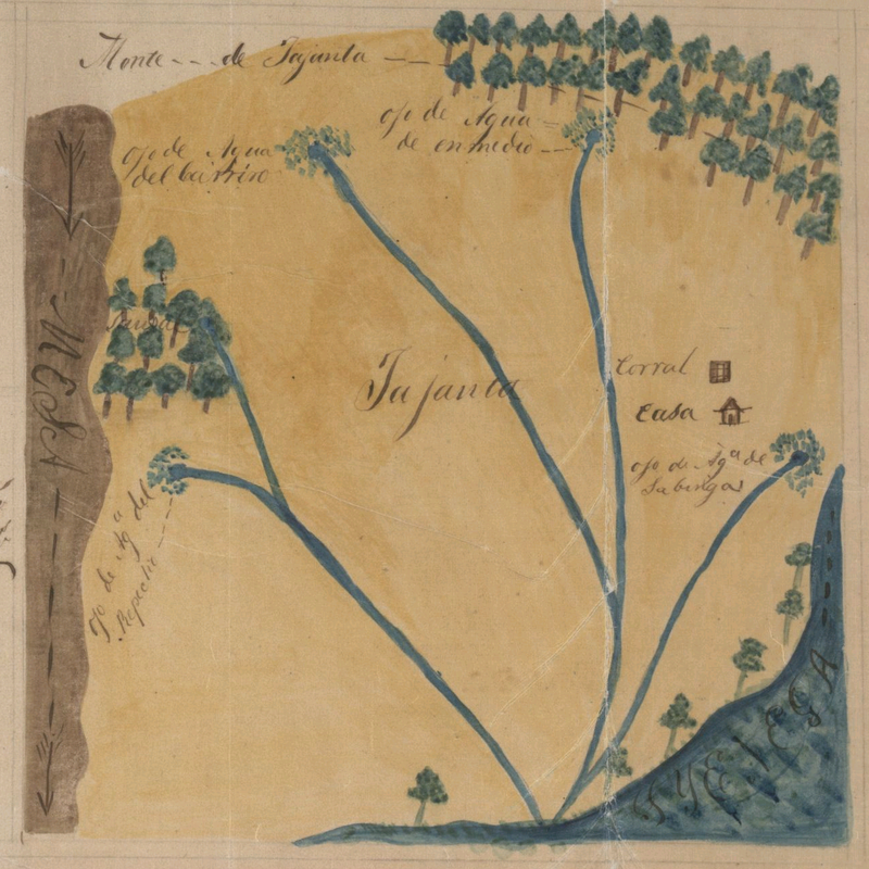 Rancho Tajauta Map, Hansen